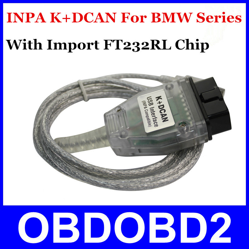 Best Sale INPA K+DCAN Ediabas Code Reader For BMW Inpa K+CAN USB Interface Cable Connector Diagnostic Tool Free Shipping(China (Mainland))