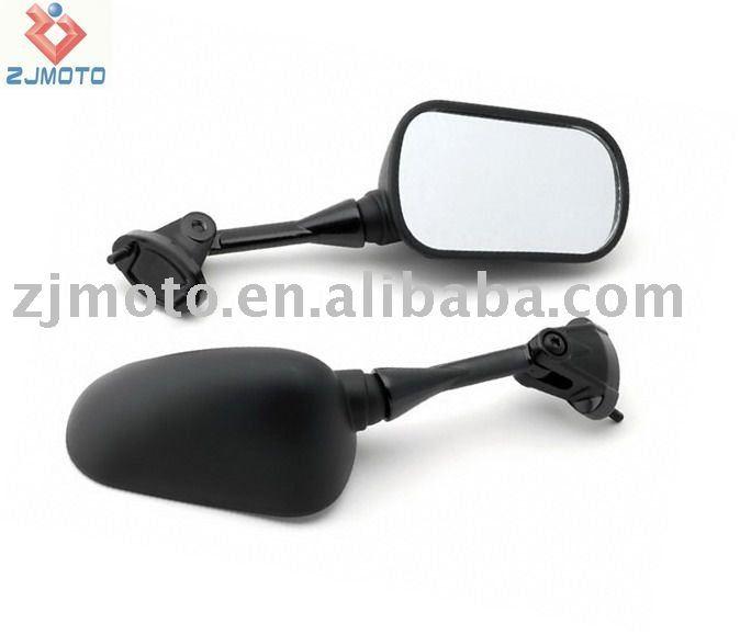 ZJMOTO Motorcycle Mirrors For Kawasaki Ninja ZX6 ZX6R ZX10 ZX10R 2004 2005 2006 2007 2008 Jet Black Racing Mirrors(China (Mainland))