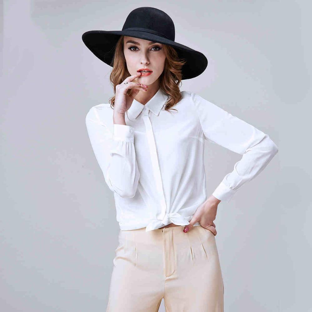 2015 New Summer Style Women Office Shirt Europe&amp;America Elegant Long Sleeve Silk Blouses camisas femininas LS842Одежда и ак�е��уары<br><br><br>Aliexpress