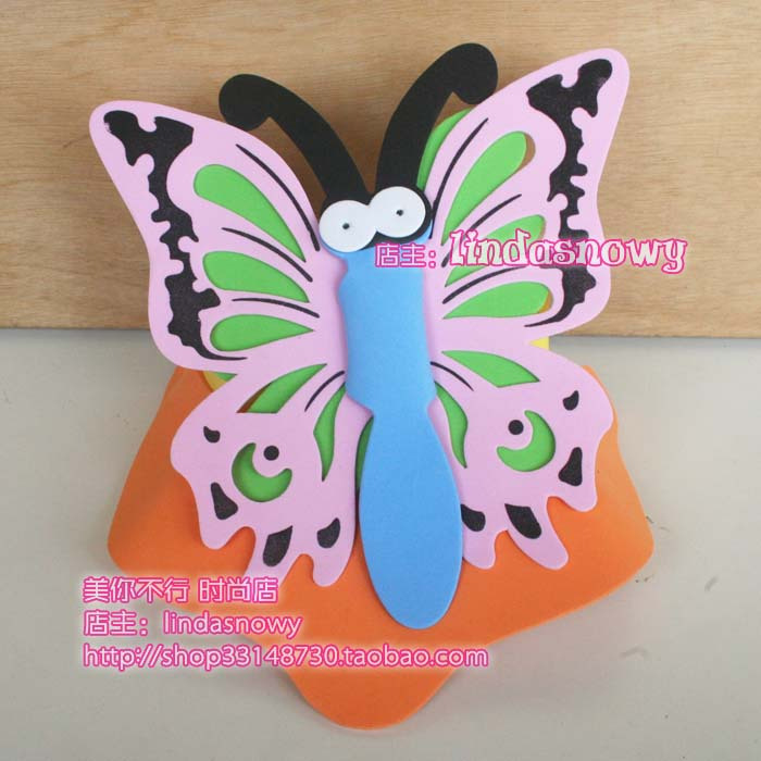 Kindergarten toy animal style hair accessory animal hat child butterfly hat hair accessory