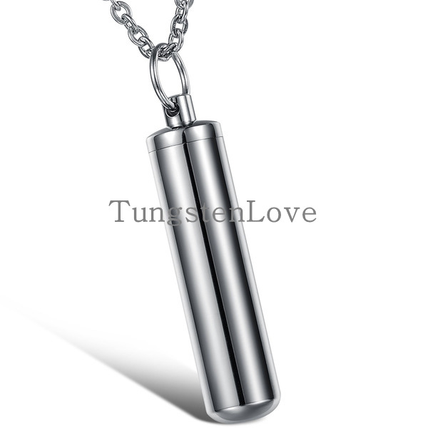 Fashion High Polished Cool Punk 316L Stainless Steel Necklace Bottle Shaped Pendant Necklace for Men Boy Gift(China (Mainland))