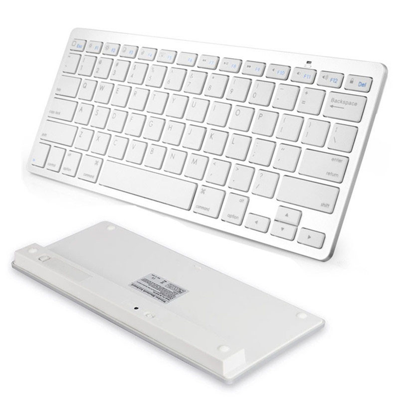 Keyboard For Tablet White Slim Mini Bluetooth Wireless Russian Keyboard For Win8 XP IOS Android ipad /Apple Macbook Laptop PC(China (Mainland))
