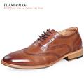 Luxury Mens Shoe Brand ELANROMAN Spring Autumn Men dress shoe with Massage Patent Insole Men Genuine