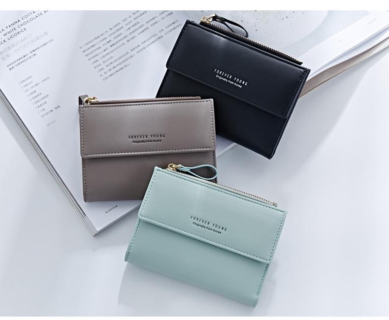 HTB16RqTQFXXXXa8XXXXq6xXFXXXb - WEICHEN Hasp & Zipper Short Standard Wallet, Hot Fashion PU Leather Solid Coin Card Purse Wallets For Women Lady Clutch Carteras