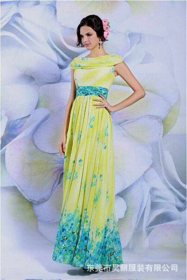 Hot selling Chiffon Evening Dress 2015 special occasion cheap long prom dress wedding party - Online Store 336604 store