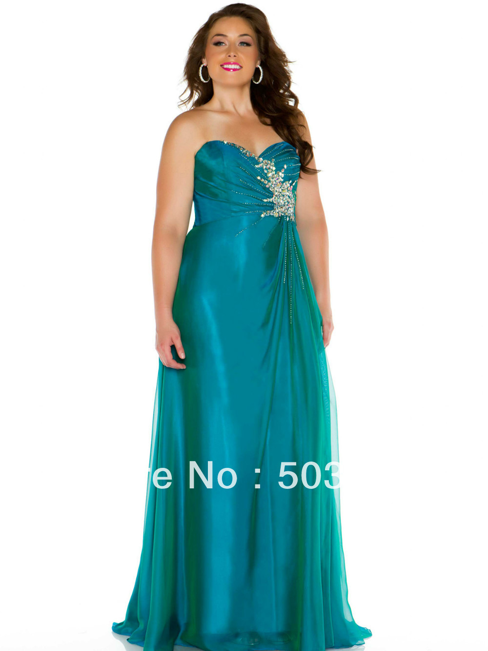 free shipping green crystal plus size prom dresses 2014