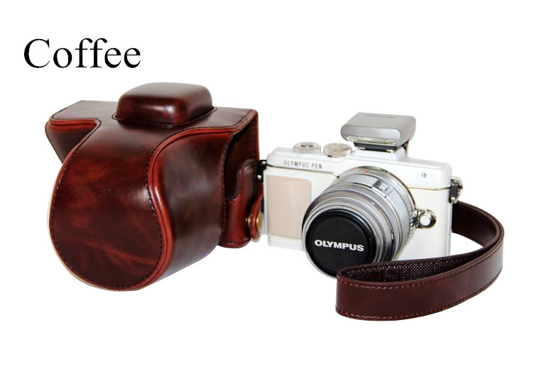 New listing ! pu leather camera bag camera case for olympus EPL7(14-42mm zoom lens)(China (Mainland))