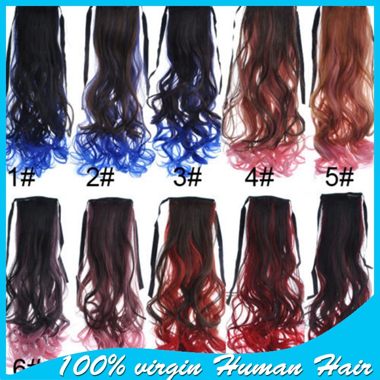 Light to dark blue ombre hair