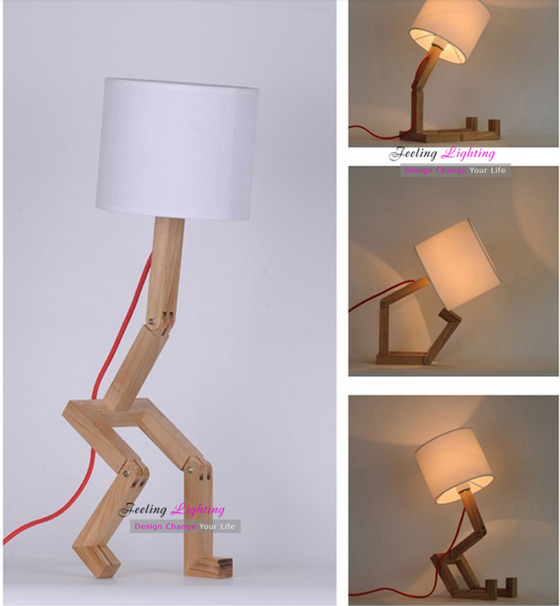 Diy Bedroom Lampshade Table Lamp Design Original Wood