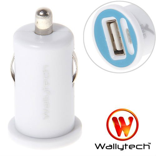 Wallyteh High quality For iPhone4s car charger Mini USB Car Charger for iphone Mobile Phone White (WIA-071)