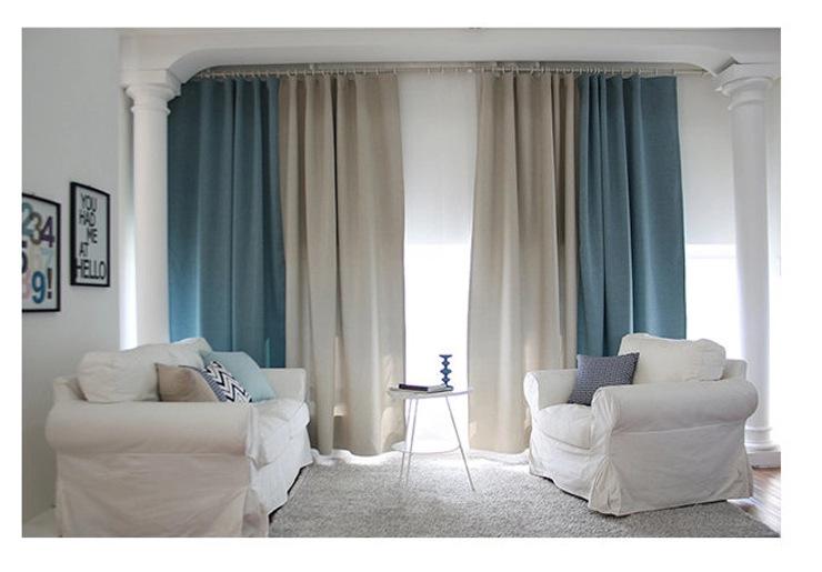 rideaux pour salon gris trendy sunnyrain pice fonc gris. Black Bedroom Furniture Sets. Home Design Ideas