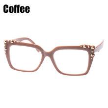 Gafas de lectura SOOLALA para mujer remache grandes lectores de marco completo gafas de lectura para hombres gafas presbiopes + 0,5 para 4,0(China)
