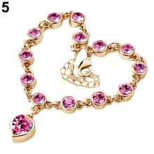 Heart Shape Crystal Bracelet Women's Korea Style Magic Imitation Bracelet Fashion Gift 9DOG(China (Mainland))