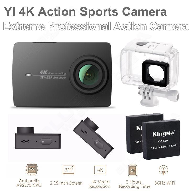 Free shipping!Xiaomi YI 4K WiFi Action Camera II Ambarella A9SE75 Sports Cam+Original Waterproof Case+Extra 2 Battery