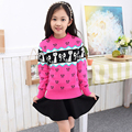 Promotion 2016 New Girls sweater European and American Children Cardigan For Kids O Neck Pullover Sweaters