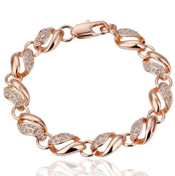 18KGP B021 18K Gold Plated Bracelet Health Jewelry Nickel Free K Golden Plating White Gold Rhinestone Austrian Crystal  Element