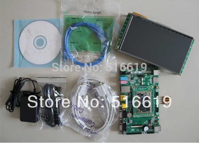 Free shipping ARM development board. ARM9 development board. S3C2416 . Linux development board. 7 inch capacitive screen(China (Mainland))