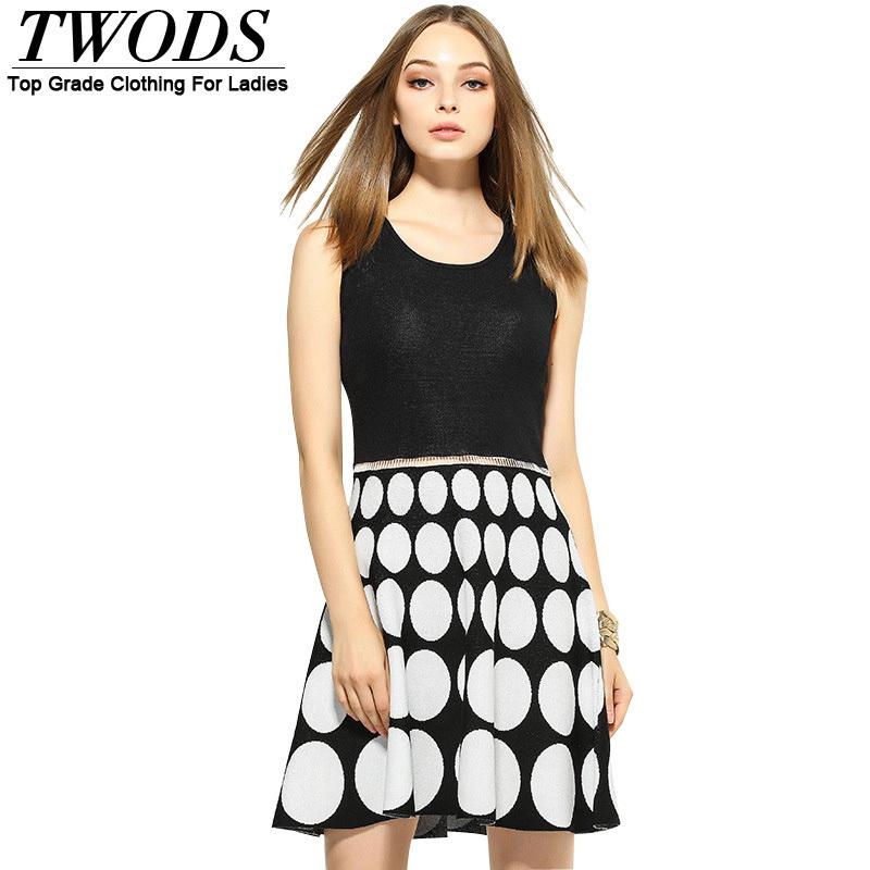Twods Autumn Winter Wool Knitted Womens Skater Dresses NE1898805Одежда и ак�е��уары<br><br><br>Aliexpress