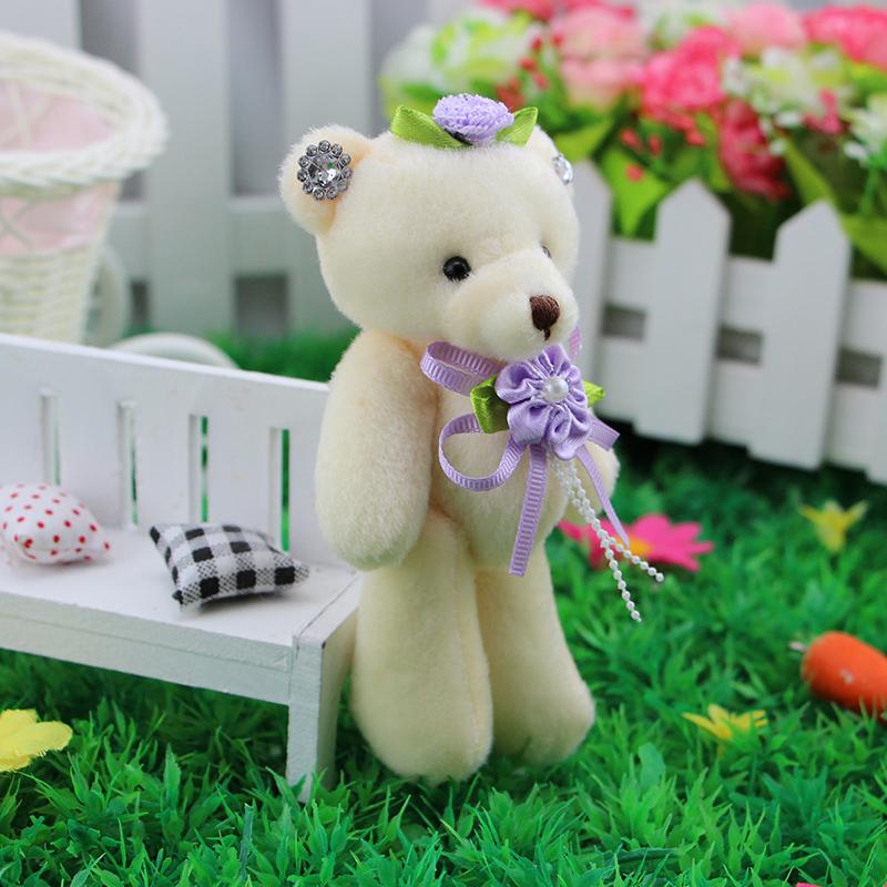 Rhinestone Teddy Bear doll cartoon beautiful bouquet of flowers shop pendant wholesale wedding gifts Materials(China (Mainland))