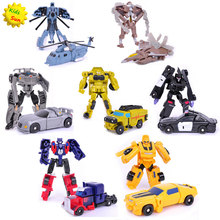 2016 Transformation 7pcs/lot Kids Classic Robot Cars Toys For Children Action & Toy Figures(China (Mainland))