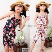 Kids Girls Toddler Jumpsuit Short Summer Playsuit Soft Clothing One piece 2 8Y