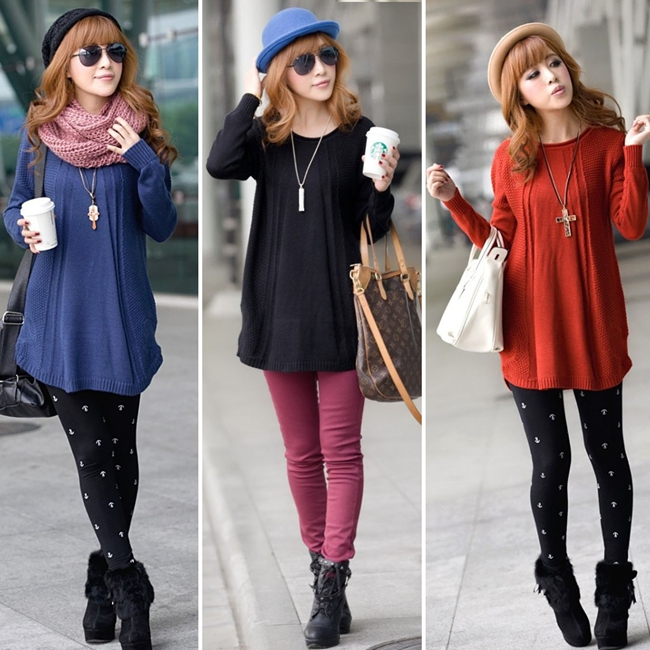 Buy New Fashion 2016 Women Sweater Blusas Winter Thick Sweater Dress Style