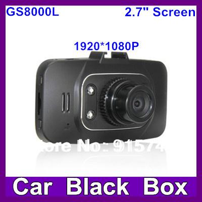 2014 Hottest Car camera GS8000L Car dvr 2.7 Night Vision Lcd 140 Degree Full HD 1920x1080 4 White Light LED With G-Senso