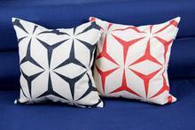 European Art Geometry Linen Pillow