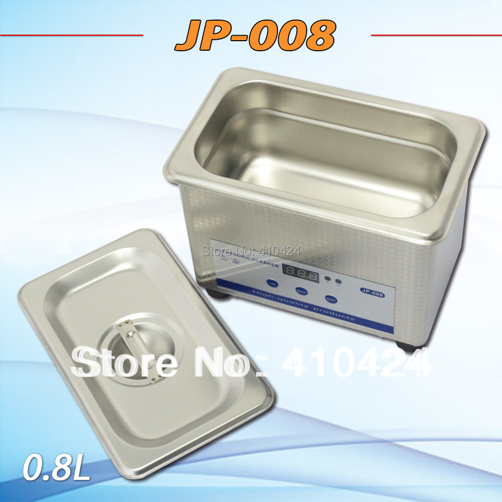 JP-008 0.8L Digital Small ultrasonic cleaner for household glasses jewelry watch cleaning(China (Mainland))