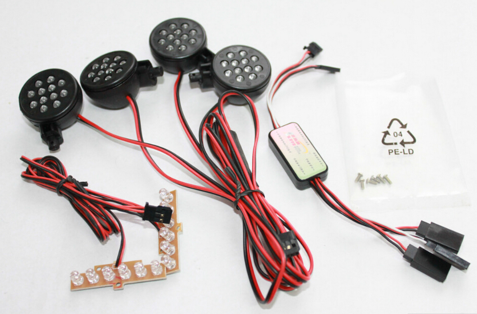 King Motor Baja T1000 LED light kits for 1/5 Hpi baja 5T Parts RC CARS(China (Mainland))