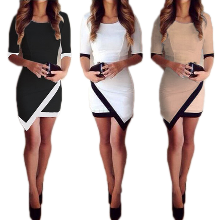 2015 Women Vestidos Casual Bandage Bodycon Dress Ladies O Neck ...