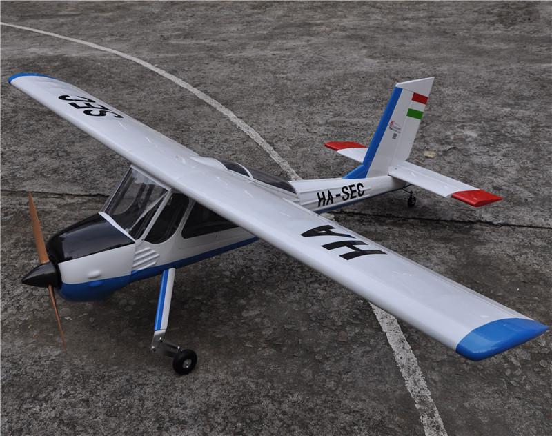 "Large Balsa Wood RC Airplane Model 89"" PZL-104 Wilga V2 30cc Gas Engine RC Plane(China (Mainland))"