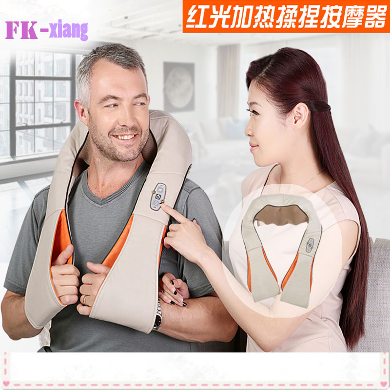 HOT! Multifunction Infrared Body Health Care Equipment Car Home Acupuncture Kneading Neck Shoulder Cellulite Massager(China (Mainland))