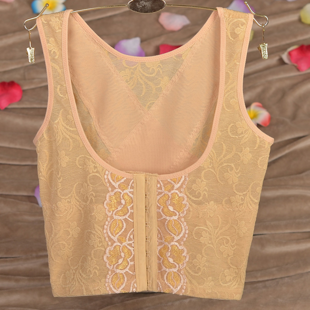 mesh embroidery women's body shaping suits vest style tops & shorts 3colors S-XXL free shipping(China (Mainland))