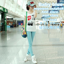 Fashion Women Sexy Candy Color Pencil Pants/Casual pants/Skinny Pants With Cotton Summer Trousers Fit  Lady jeans Free Shipping(China (Mainland))