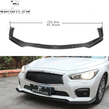 Q50 complete carbon fiber car bumper front lip spoiler for infiniti Q50 Sport bumper 2013UP