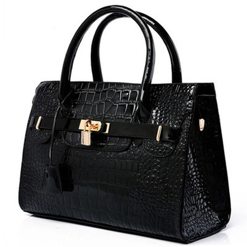 Women Bags 2016 New Fashion Handbag Crocodile Pattern PU Leather Vintage Messenger Shoulder Bag - madeonline88 store