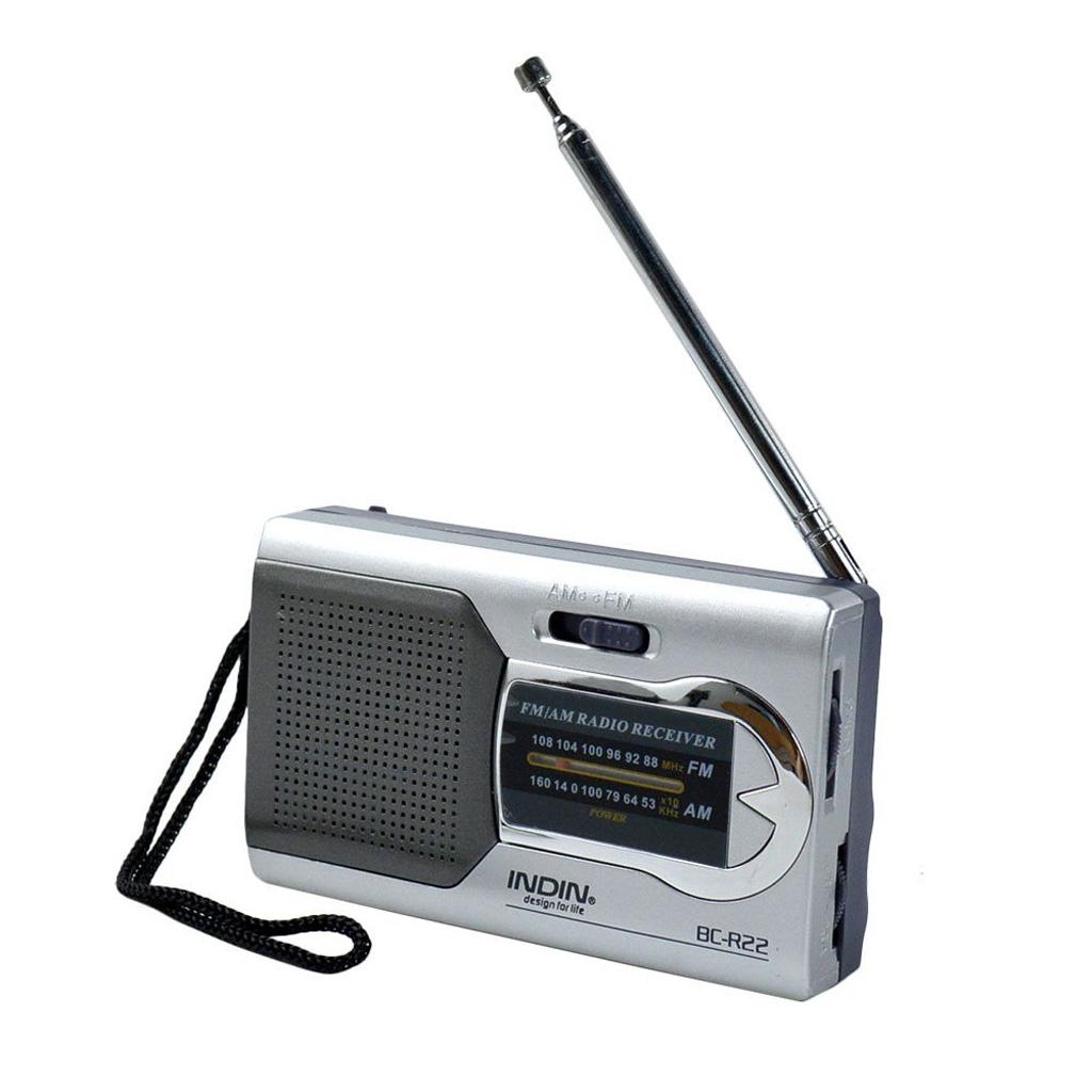 BC-R22 Pocket Portable Mini AM/FM Radio Speaker World Receiver Telescopic Antenna Mini Portable AM/FM Radio Speaker
