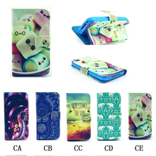 1PCS For iPhone4 iPhone 4 4S Luxury Painting PU Leather Case Flower Pineapple & Elephants Fashion Style Flip Wallet Cover Cases