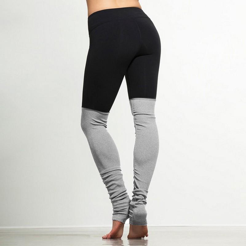 6 colors Women Sports Elastic Rib Patchwork Bodybuilding Yoga Pants High Elastic women Leggings S M L XL 4sizes