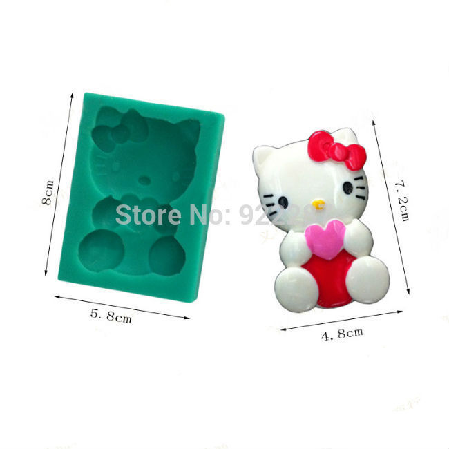 1pc hello kitty 3d silicone soap mold cake decorating fondant molds silicone form for candles cake design kitchen accessories(China (Mainland))