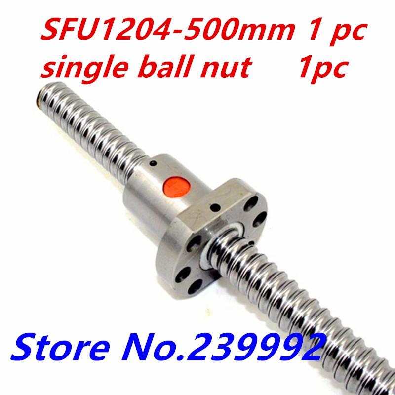 12mm 1204 Ball Screw Rolled C7 ballscrew SFU1204 L500mm one flange single ball nut CNC parts - INDUSTRY&CNC store