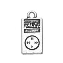 Zinc Alloy 18K Gold & Antique Silver Plated MP3 Player Small Music Musical Pendant Charm(China (Mainland))