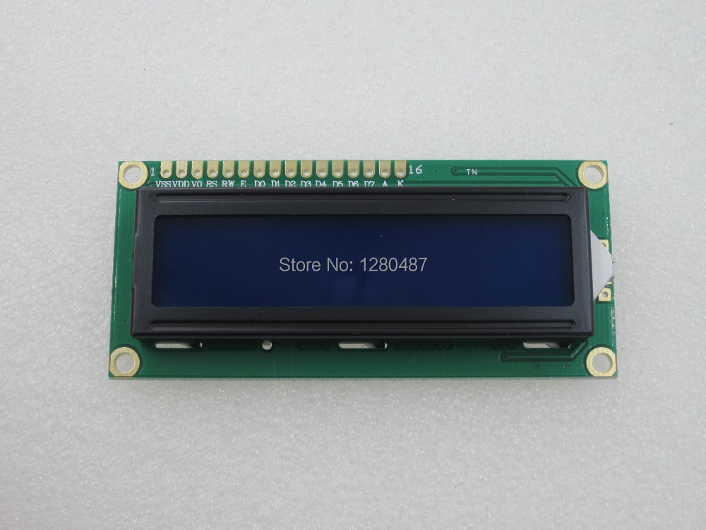 Free shipping 2PCS lcd 1602 (Blue Screen) screen Character LCD Display Module Blue Blacklight New 16X2(China (Mainland))