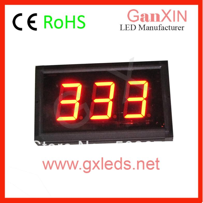 ali express/aliexpress 3 inch 3 digit /digital red led queue number/system/make custom timer(China (Mainland))