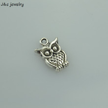 Buy 20 pcs free Retro silver charms diy metal owl pendant necklace&bracelets jewelry making 17*12 mm 33104A for $1.27 in AliExpress store
