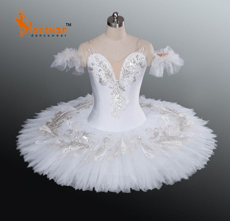 White Candid Professional Ballet Tutus B676 Sleeping Beauty Classical Tutu Kids Nutcracker Pancake - Guangzhou Blacswan Dance & Activewear Co., Ltd. store