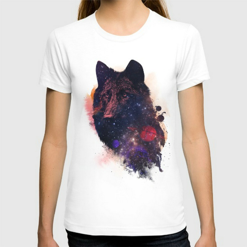 Universal Wolf New women's T-shirts Short Sleeve Cotton women t shirts Clothing Wholesale(China (Mainland))