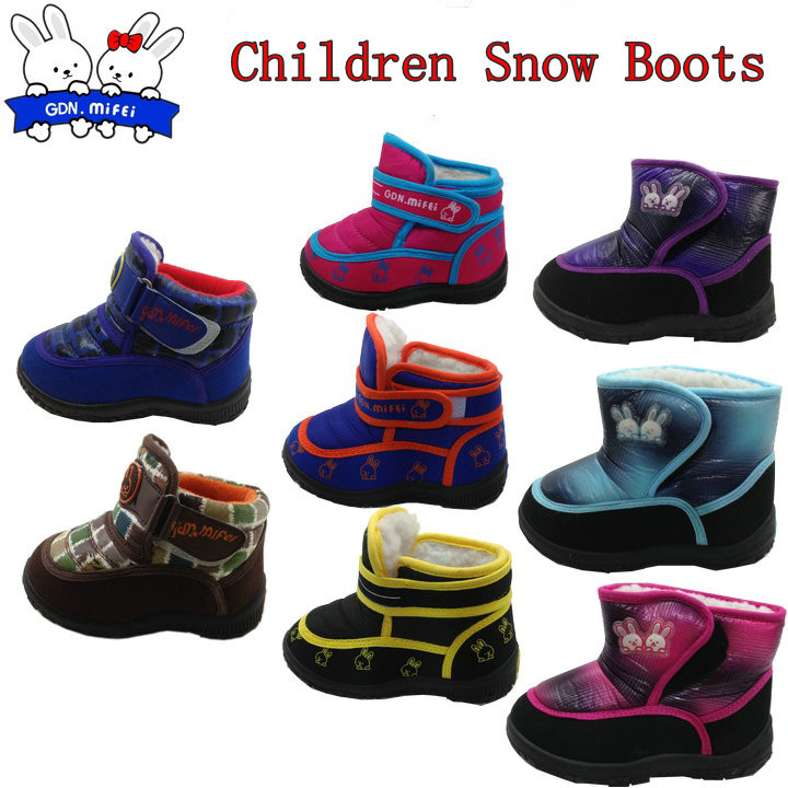winter kids boots baby boys girls warm cotton-padded shoes children waterproof snow - Beauty Life Online Store:208399 store