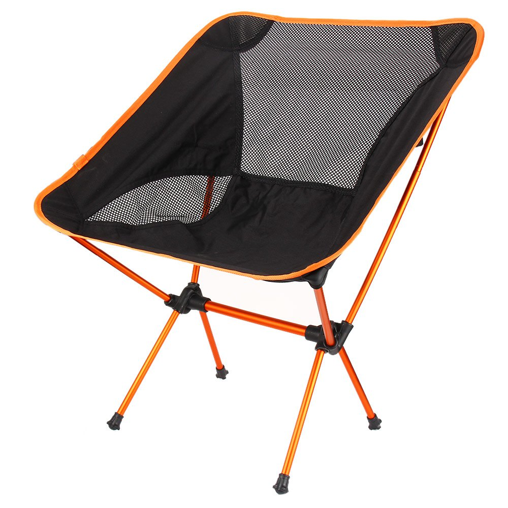 Portable Folding fishing chair Lightweight Camping Stool Seat Chair Support F